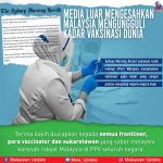 Media Luar Mengesahkan Malaysia Mengungguli Kadar Vaksinasi Dunia