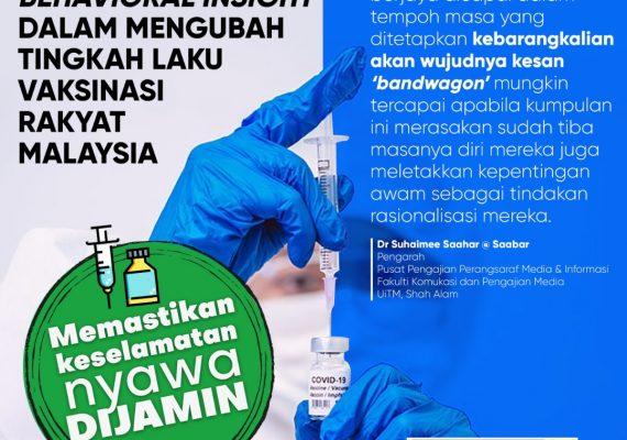 PENDEKATAN BEHAVIORAL INSIGHT DALAM MENGUBAH TINGKAHLAKU VAKSINASI RAKYAT MALAYSIA